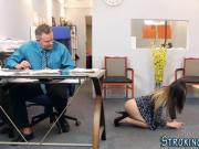 Stepteen banged at office