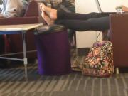 Quick Candid Feet at the library