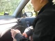 Italian amateur car sex fun