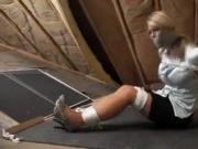 Carissa montgomery in attic