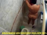 GRAVANDO ESCONDIDO MULHER NO BANHEIRO