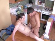 Young Boy Seduce Grandma to Fuck and lost Virgin