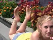 Cute Amateur Teen Gets Picked Up Off Streets for Footjob