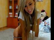 rubia colombiana en la webcam