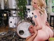 Delicious teen Lexi Bardot riding a huge dick balls deep