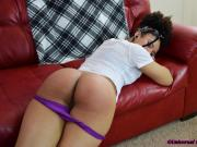 Blazing Her Bare Bottom - Spanking
