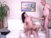 Tricky Old Teacher - Sexy brunette asks a teacher for privat