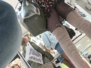 fantastic upskirt boots and black pantyhose.mp4