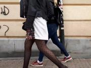 Girl walk on street 26