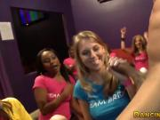 CFNM party babes sucking and tugging strippers BBC