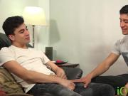 Young twink roughly barebacked by his lover and cummed on