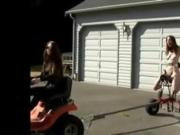 BDSM in driveway
