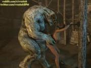 Monsters take turn to Fuck Lisa Hamilton Animation