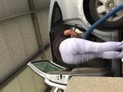 Carwash candid white jeans 2