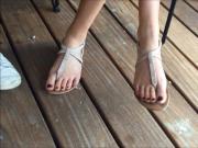 Friend's Candid Feet Elise Part 1