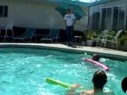 Young emo homosexuals fuck ass in poolside threeway