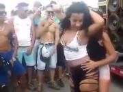 Two hot teen girls sensualizing in a funk dance