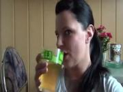 german girls drinking piss