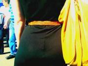 See through dress thong