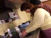 JPN Mom in the kitchen censored
