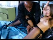 Young Hot Wife handcuffed for Black Cock