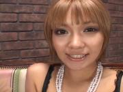 Young Japanese Gets Cream in Mouth. HO
