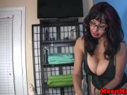 Bigtitted massage milf tugging her client