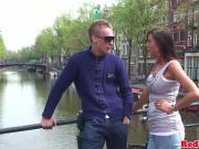 Dutch hooker jizzed after cockriding tourist