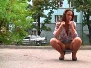 Gorgeous girl flashing in public 2
