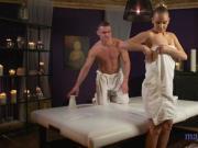 Massage Rooms Bubble butt blonde's sensual fuck