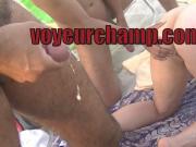 VoyeurChamp.com Exhibitionist Wife Nude Beach Voyeurs Cum!