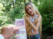Dick loving petite teen banged hard inside the woods in POV