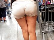 Sexy young milf wedgie in shorts