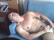 Body Builder Shows His Muscles And Butthole