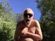 Naked cum outdoors