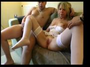 Blonde milf Stephanie takes few cocks