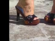 Mules High Heels Outdor.mp4