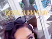 WWE - Renee Michelle showing big cleavage in Barbados