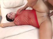 Bouncing on that cock in her ass