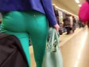 big russian ass in green pants