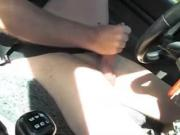 Jacking off Naked in my Car