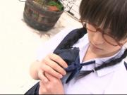 SATOMI takes off her school uniform