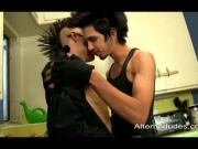 hung Latino punks suck and frot identical uncut cocks