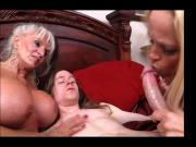GILF and MILF share young boy's dick