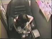 Hidden cam Japanese video booth masturbation