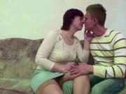 stepmom Caught Step-Son And Seduce Him to Fuck her