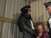 Mistresses punish a naughty boy