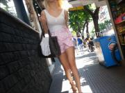 Candid: Young long legs with shorts