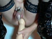 German hard anal with chastity belt