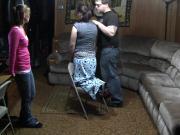 Sami hairbrush spanking
